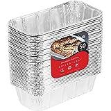 2 lb Aluminum Foil Loaf Pans (100 Pack) - Disposable Standard Size Bread & Meatloaf Pan Great for Restaurant, Party, BBQ, Cat