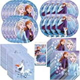 Frozen 2 Movie Party Bundle Officially Licensed by Unique   Plates, Napkins, Tablecover & Cups