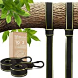 Tree Swing Straps Hanging Kit - Two 10ft Straps, Holds 2800 lbs (SGS Certified), Fast & Easy Way to Hang Any Swing - Outdoor