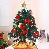 Juegoal Mini Christmas Tree, Table Top Artificial Christmas Trees, Tabletop Xmas Tree, Mini Christmas Pine Tree with LED Stri