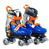 Chicago Boy's Adjustable Quad Skate, Blue/Silver, Small