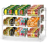 Simple Trending Can Rack Organizer, Stackable Can Storage Dispenser Holds up to 36 Cans for Kitchen Cabinet or Pantry, White