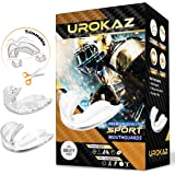 UROKAZ Football Mouth Guard Sports 5 Pieces Mouthguard and Mouthpiece for Boxing, MMA, Basketball, Lacrosse, Muay Thai, Hocke