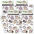 Pusheen Cat Sticker Bundle Pack Pusheen Favors - 100 Pusheen Sticker Stickers for Walls Cars Laptops Water Bottles (Pusheen t