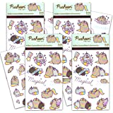 Pusheen Cat Sticker Bundle Pack Pusheen Favors - 100 Pusheen Sticker Stickers for Walls Cars Laptops Water Bottles (Pusheen t
