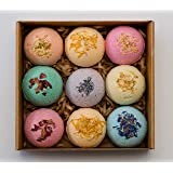 Pangolin House 9 Organic and Natural Bath Bomb Gift Set. Australian Handmade Fizzies for Bubble Bath. Rich in Essential Oil,