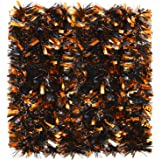 WILLBOND 6 Pieces 39.4 Ft Halloween Twist Garland Chunky Glittering Tinsel Garland Mixed Color Metallic Tinsel Decoration for