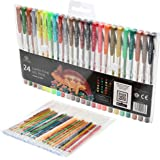 24 Earth Tones Gel Pens for Coloring - Refills Included