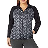 Just My Size Women's Plus Size Active Full-Zip Mock Neck Jacket