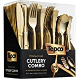 160 Plastic Silverware Set - Plastic Cutlery Set - Disposable Flatware - 80 Plastic Forks, 40 Plastic Spoons, 40 Cutlery Kniv