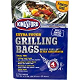 """Kingsford Extra Tough Aluminum Grill Bags, For Locking in Flavors & Easy Grill Clean Up, Recyclable & Disposable, 15.5"""" x 10"""""""