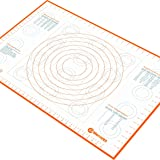 Extra Large Silicone Pastry Mat with Measurements and Conversion Charts, (75 x 52 cm) Non-Stick Non-Slip, XL Fondant Mat for