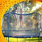 Trampoline Waterpark Heavy Duty Sprinkler Hose- Fun Summer Outdoor Water Game Toys Accessories - Best for Boys & Girls and Ad