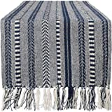 DII Braided Cotton Table Runner Perfect for Summer, Holiday Parties and Everyday Use, 15x108, Navy Blue