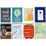 Hallmark Teacher Appreciation Card Assortment for Day Care, Preschool, Elementary School, Graduation or Back to School (8 Car