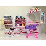 Gloria Dollhouse Furniture - Supermarket Shopping Cart Veggie Playset