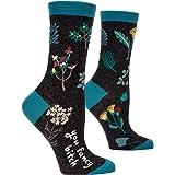 Blue Q Women's Crew Socks , You Fancy B---h, Women's Shoe Size 5-10
