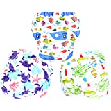 Langsprit 3 Pack Swim Diaper for Baby & Toddle,Reuseable Washable Diaper Swim for Swimming Lesson & Baby Shower Gifts