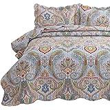"Bedsure Printed Quilt Set, Other, #03 Bohemia Paisley, King(106""x96"")"