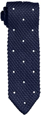 Dot Silk Knit Tie 118-23-2421: Navy