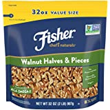 Fisher Chef's Naturals Walnut Halves & Pieces, 32oz, Naturally Gluten Free, No Preservatives, Non-GMO