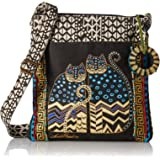 Crossbody Tote w/Zipper Top (Spotted Cats)