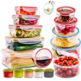28 PCs Large Food Storage Containers with Airtight Lids-Freezer & Microwave Safe,BPA Free Plastic Meal Prep Containers & Kitc