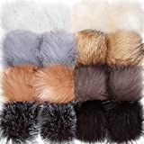 Tatuo Faux Fur Pom Pom Ball DIY Fur Pom Poms for Hats Shoes Scarves Bag Pompoms Keychain Charms Knitting Hat Accessories (Pop