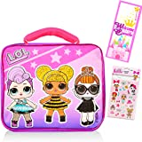 LOL Dolls Lunch Box for Girls Kids Bundle ~ Premium Insulated LOL Lunch Bag with Strap with Bonus LOL Stickers and Door Hange