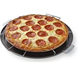 Nifty Pizza and Pie Baking Rack – Built-In Drip Pan, Multipurpose, Non-Stick Chrome Finish, Dishwasher Safe, Heavy-Duty Desig