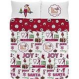 The Elf on the Shelf Joy Duvet Set, Combed Cotton, Multi-Colour, Double