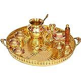 E-Handicrafts Pure Brass Pooja thali Set