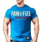 Monsta Clothing Co. Men's Bodybuilding Workout (PainIsFuel) Gym Training T-Shirt