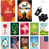 Seasonal Garden Flags 12 Pack - Bright and Shine - 12 Pack Set of 12x18 inch Small Holiday Yard Flags - Double Sided Design f