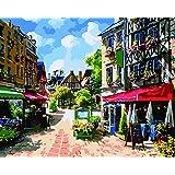 DIY 数字油絵 数字塗り絵 大人の子供のためのギフト デジタル油絵 数字キットでペイント ホーム オフィス装飾 - レストラン 40* 50センチ