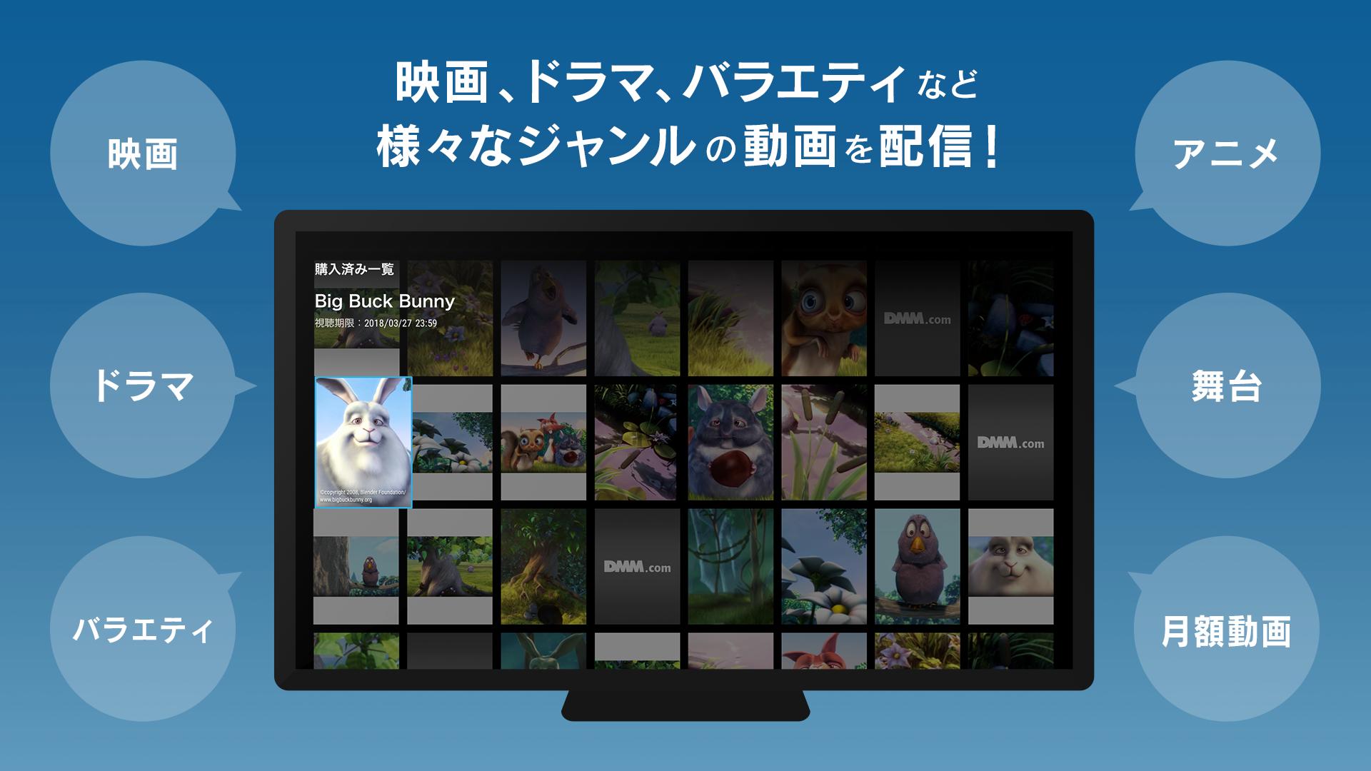 dmm 動画 テレビ 出力