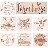 Farmhouse Stencils Farm Theme Reusable Stencils for Painting on Wood, Cow/ Sunflower/ Vintage Truck or Other Pattern Stencil