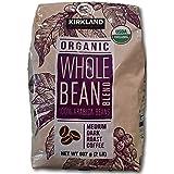 カークランド オーガニック ホールビーンブレンド 907g ミディアムダークローストコーヒー豆 100% アラビカ産 ×907g レギュラー(豆)