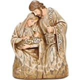 """Roman Joseph's Studio Holy Family Bust, 7.25"""" H, Wood Carved Finish, Christmas Collection, Polyresin, Nativities, Christmas G"""