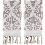 SKL Home by Saturday Knight Ltd. Mirage Fringe 2 Pc Hand Towel Set, Taupe