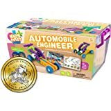 Thames & Kosmos Kids First Automobile Engineer Kit   STEM   32 Page Full-Color Illustrated Storybook   Ages 3+   Preschoolers