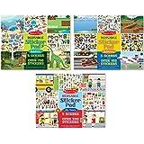 Melissa & Doug Reusable Sticker Pads Set: Habitats, Vehicles, Town: 115 Stickers