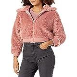 KENDALL + KYLIE Women's Sherpa Front Zipped Short Jacket