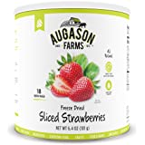 Augason Farms Freeze Dried Sliced Strawberries 6.4 oz #10 Can
