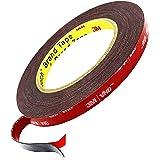 3M Double Sided Tape, 33FT Length, 0.4 Inch Width, Heavy Duty Mounting Waterproof VHB Foam Tape. for LED Strip Lights, Car De