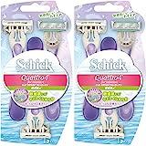 シック Schick ボディ用 クアトロ4 ディスポ フォーウーマン セーフティワイヤー付 敏感肌用 3本入×2個パック 使い捨てタイプ 女性用 カミソリ