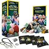 NATIONAL GEOGRAPHIC Rock Tumbler Refill Kit - Gemstone Mix of 9 varieties including Tiger's Eye, Amethyst and Quartz - Comes