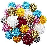 Hallmark Gift Bow Assortment (30 Bows, 2 Sizes) Red, White, Pink, Blue, Yellow, Silver, Gold for Christmas, Hanukkah, Birthda