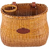 Tote & Kari Bicycle Basket Made for Front Handlebar of Adult Beach Cruiser Bike it has a Cup Holder -Classic Vintage Style Ha