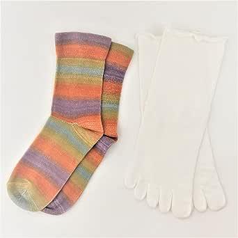 nux(ヌックス)モデルが作った 内絹外綿 冷えとり靴下 5本指+先丸 2足セット【日本製】シルク